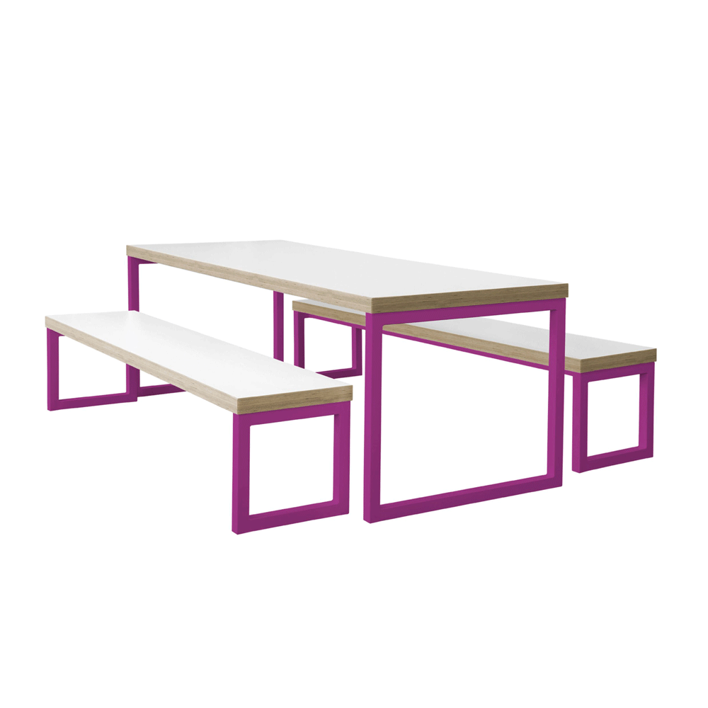 Awesome Statix Hoop Dining Bench With Metal Frame Maple Leaf Alphanode Cool Chair Designs And Ideas Alphanodeonline